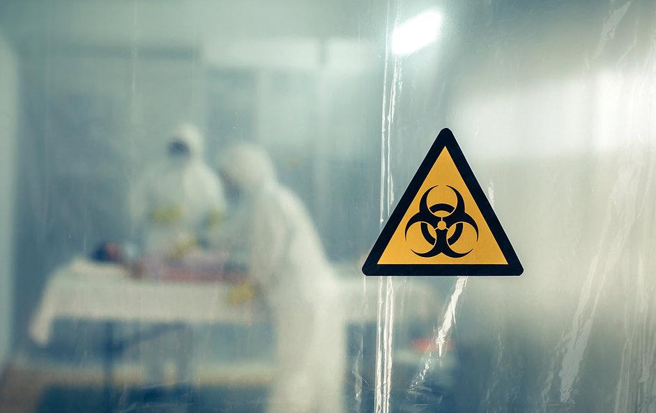 Unrecognizable doctors with bacteriologi