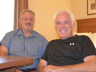 My good friend Christopher Johnson visits me in Joplin!