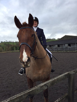 First ever dressage - and still smiling