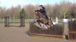 First arena eventing after coming off the track in September