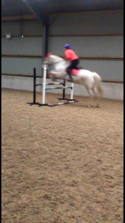 Jumped 90cm.......all went in a blur...