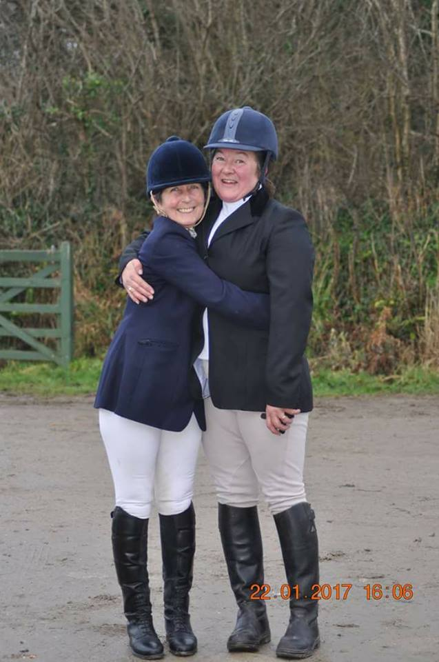 First completed dressage competition for 2 very happy South West Wobbleberries