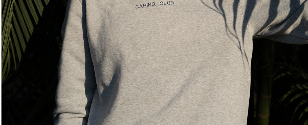 Caring club bold crew neck