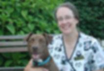Chamapign Savoy veterinary technician with pet dog Mocha