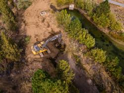 Latham Excavator backfilling