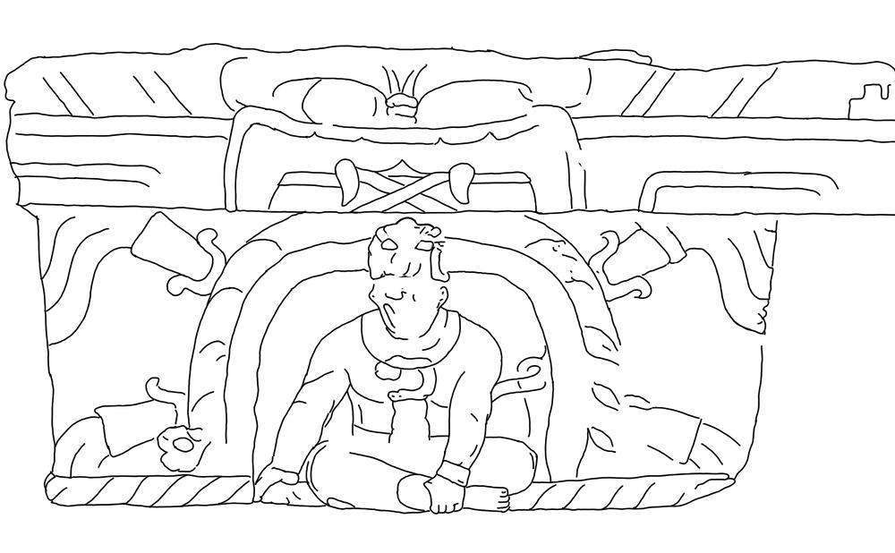 La Venta Altar 4 Drawing