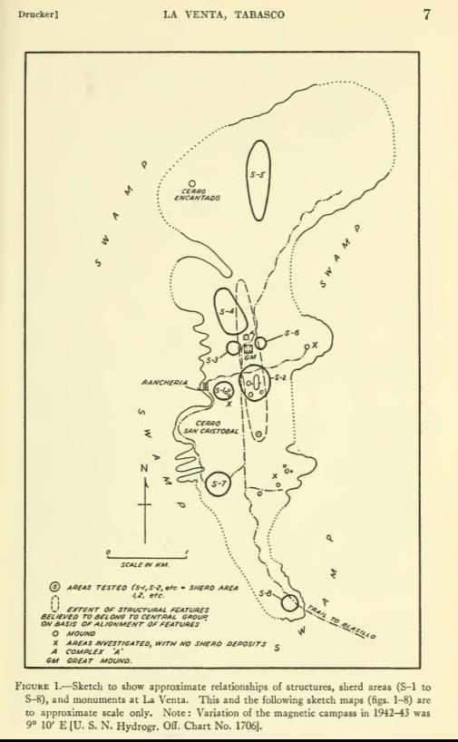Map of Excavations at La Venta