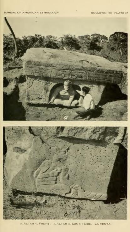 Excavation of La Venta Altar 4