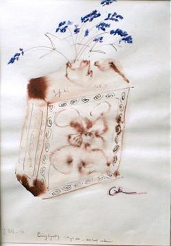Lavender in Tea Leaf Container (2004