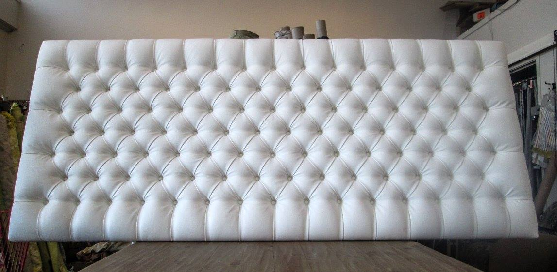 Custom Headboard Diamond Pleat