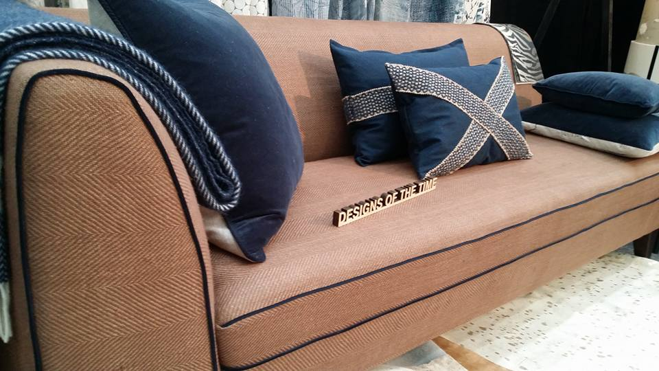 Denim Cushions Linen couch