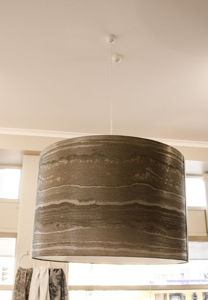silk wallcovering lampshade
