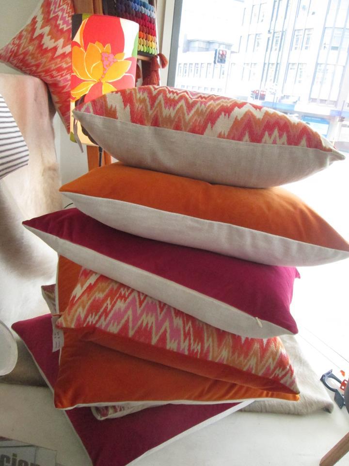 Velvet Linen cushions