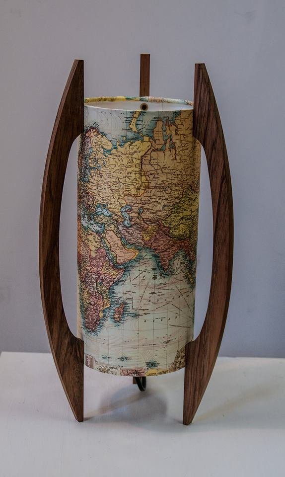 world map rocket lamps