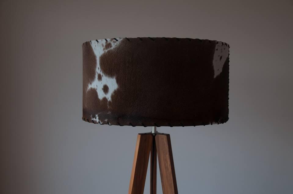 Cowhide lampshade