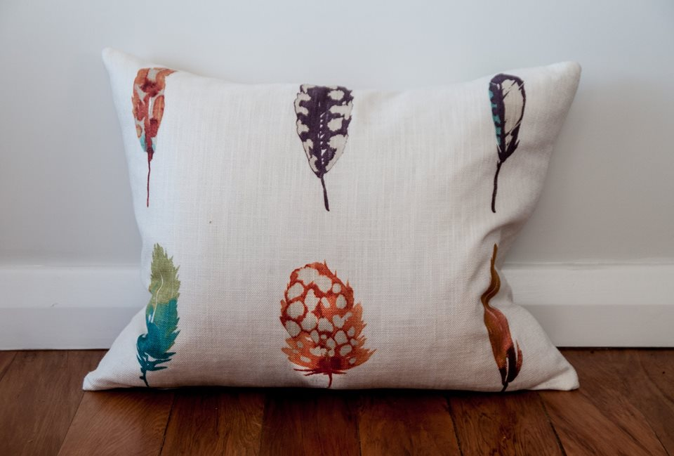 Harlequin Fabric feather cushion