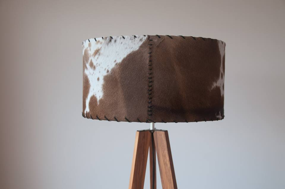 Hand made cowhide shade