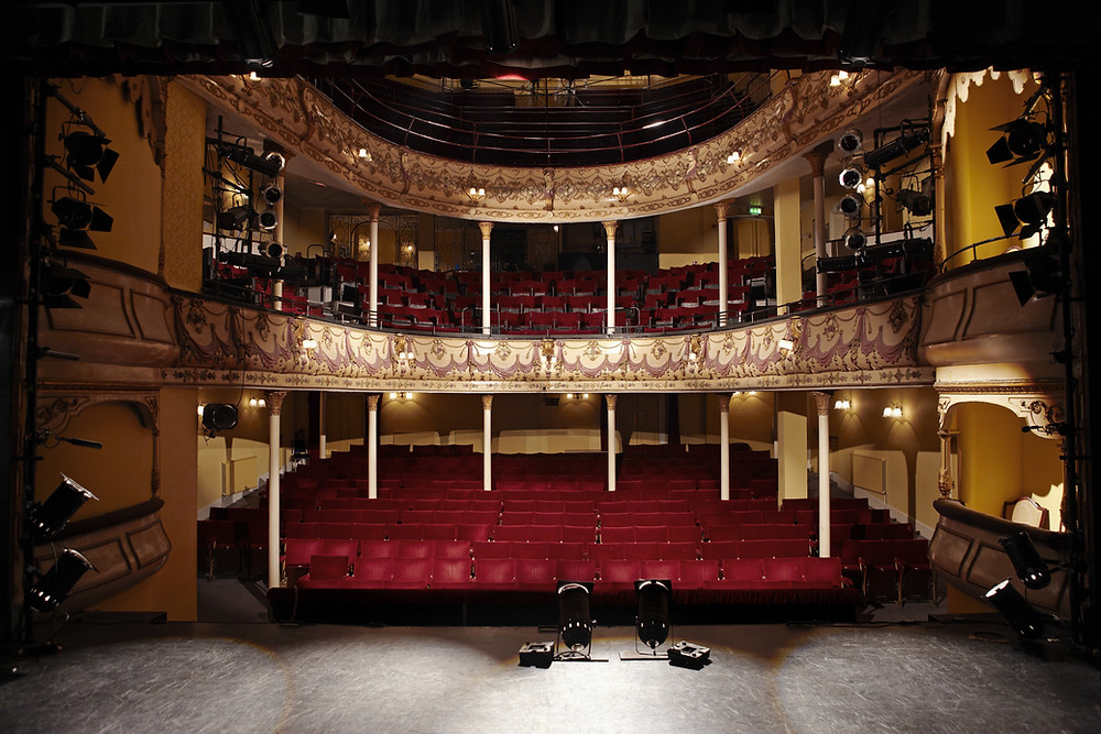 Empty ornate theater with view from the stage