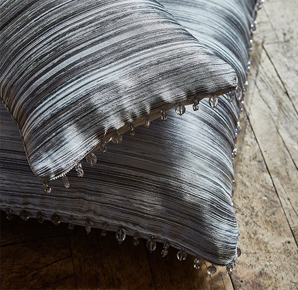 panoramic beaded cushion fabric cover