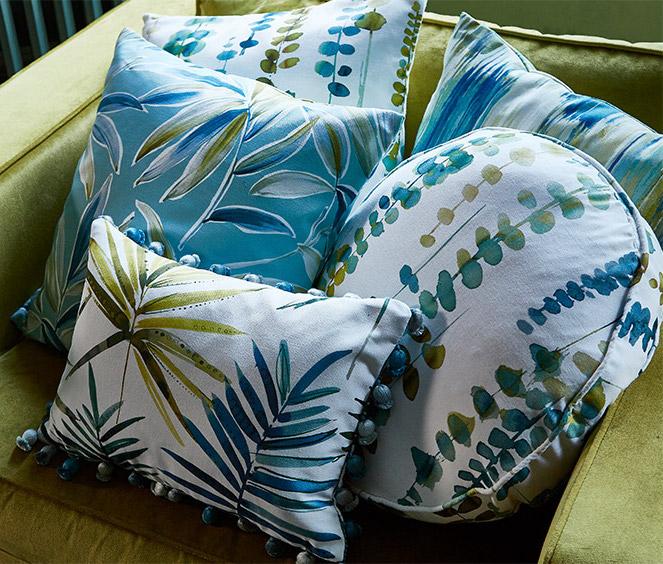 malibu tropical cushion fabric cover