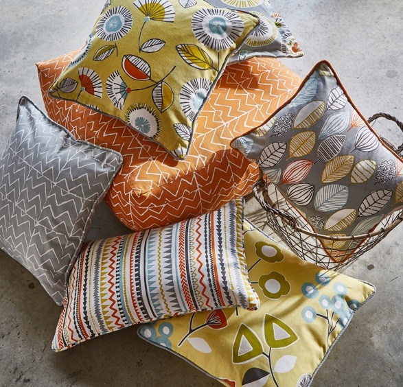brightside floral cushion fabric cover
