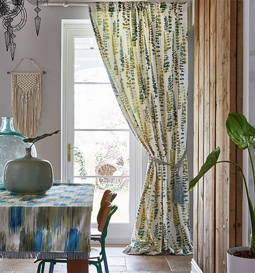 malibu tropical curtain fabric
