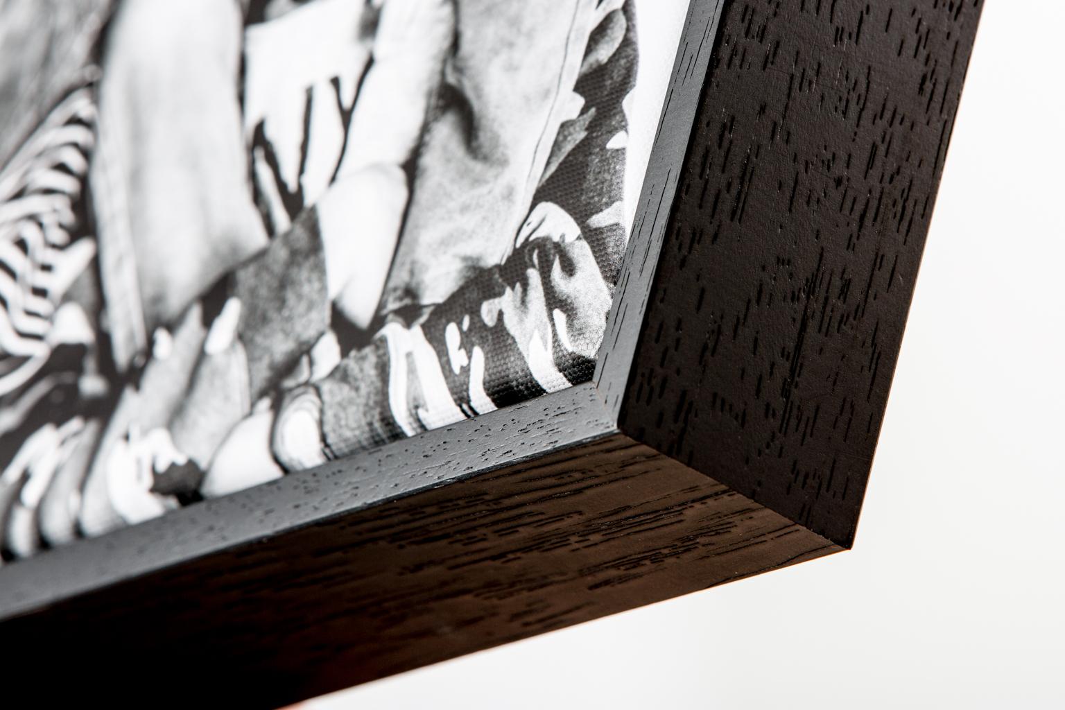Canvas met zwarte baklijst