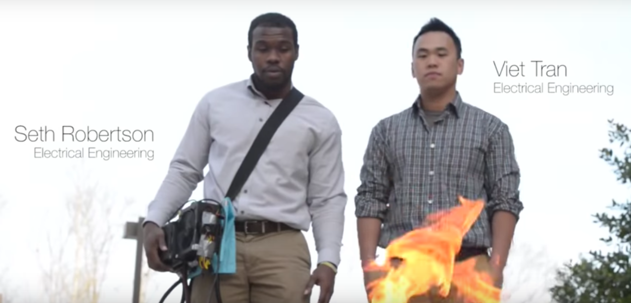 Mason Students Zap Fire With Sound
