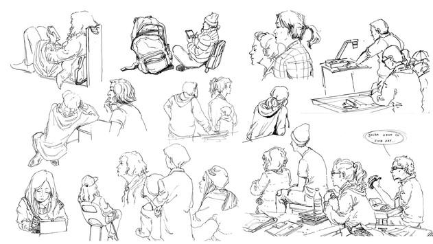 People Sketching