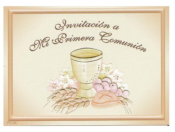 INVITACIÓN COMUNIÓN COD. 20