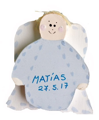 ANGEL DE MADERA IMAN M02
