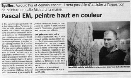 Exposition Mairie d'Eguilles - 22-27/11/2009 - Eguilles (France)