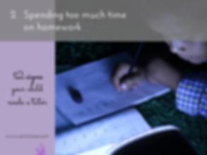 Tutoring_Spending Too Much Time on Homework