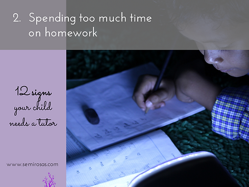 Tutoring_Spending Too Much Time on Homework