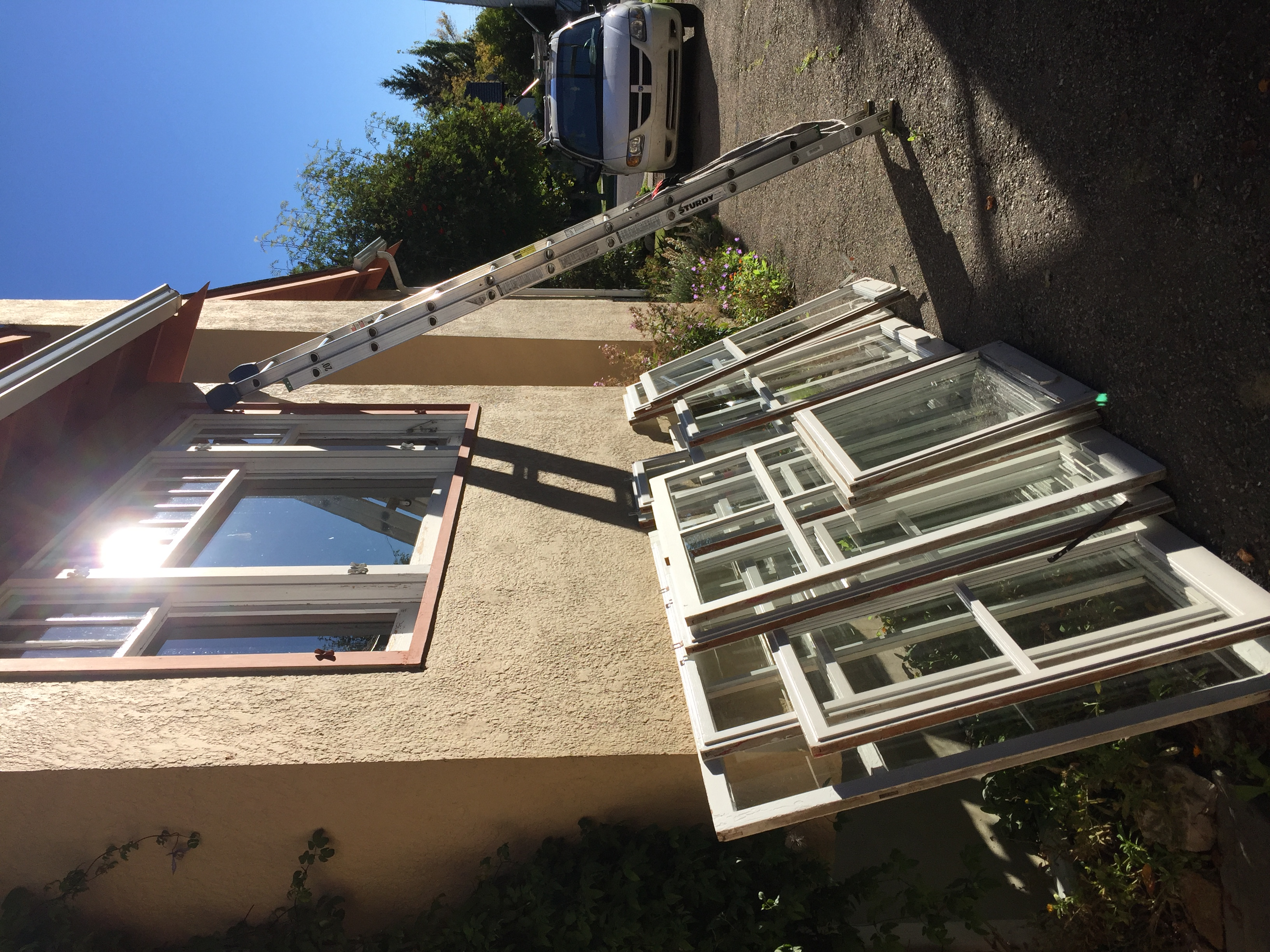 Storm Window Cleaning