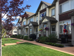 window cleaning on some townhomes