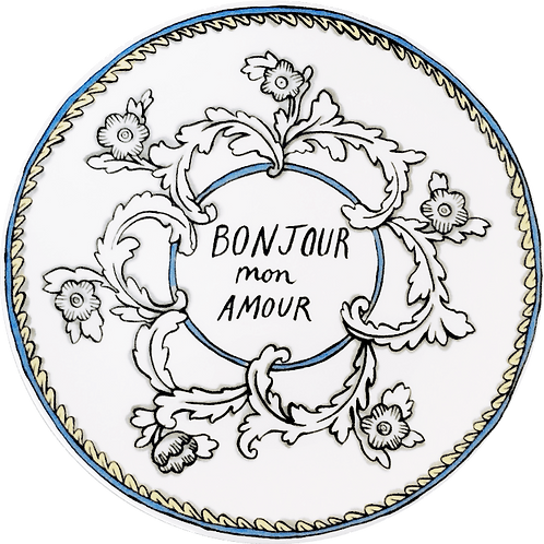 Bonjour Mon Amour - 8 in. Salad Plate