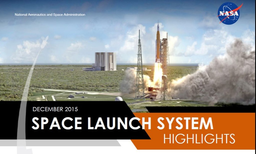 december 2015 space launch system highlights