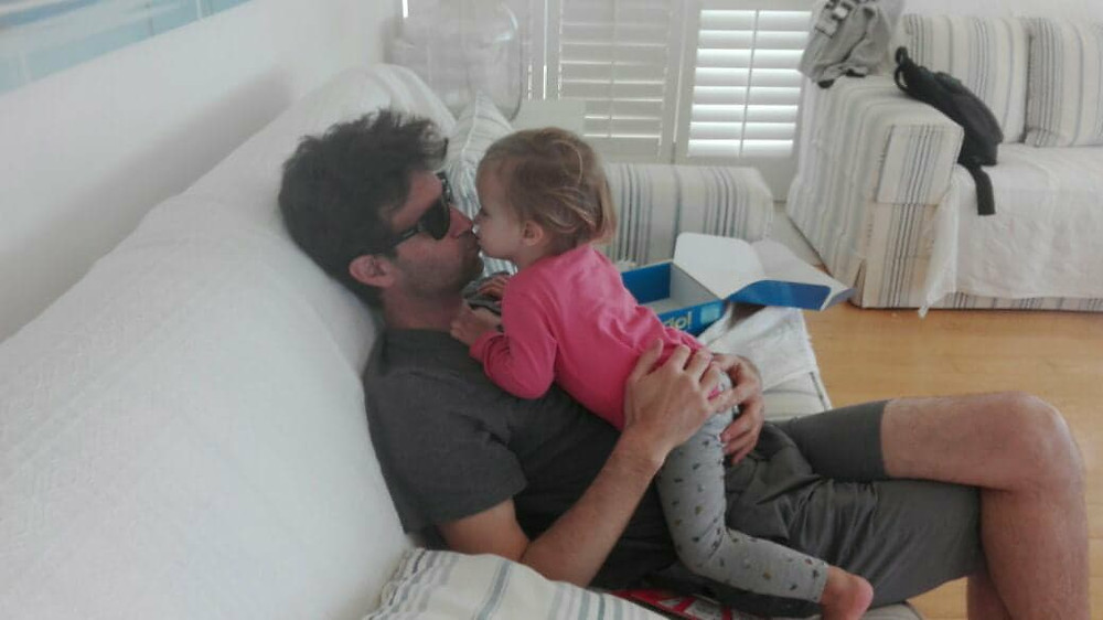 Josephine and her daddy.