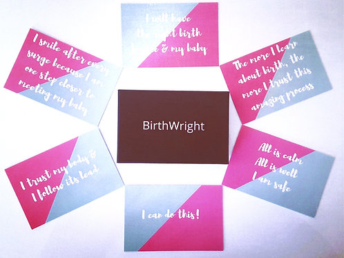 Affirmation Cards ~ for a Positive Birth