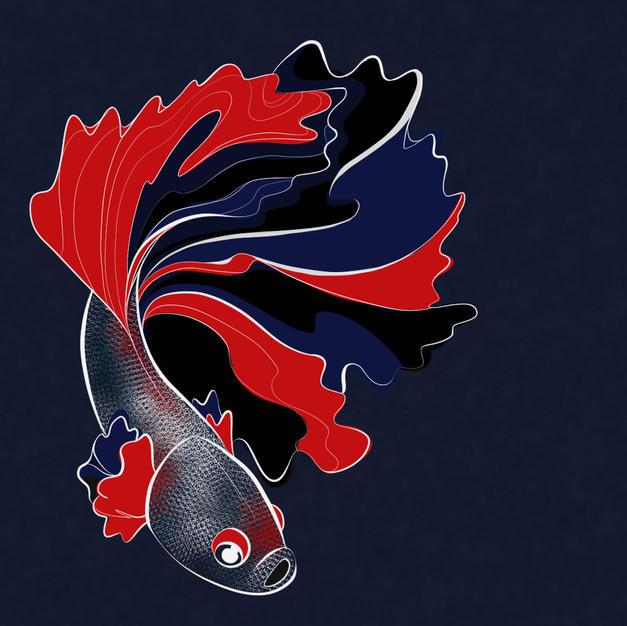 fish - Inktober 1