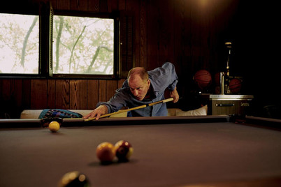 Celebrities Playing Pool