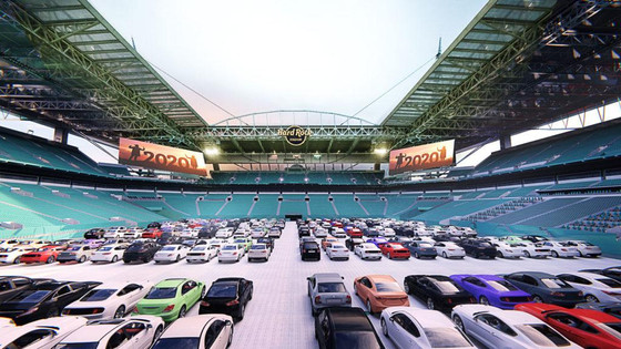 The Miami Dolphins have created The Outdoor Theaters at Hard Rock Stadium