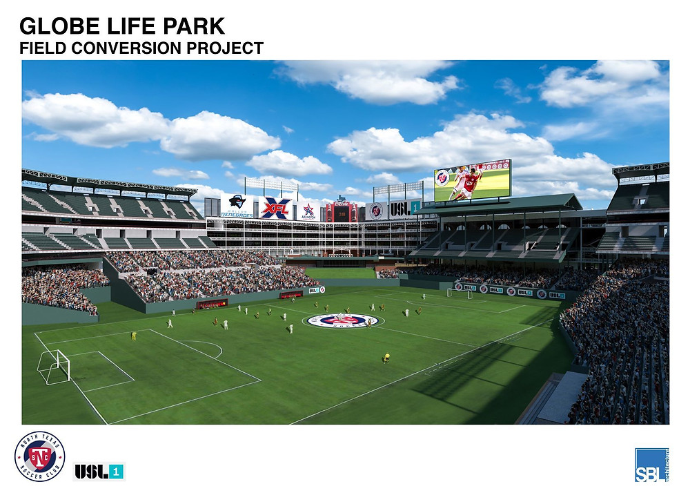 Globe Life Park Field Conversion Project