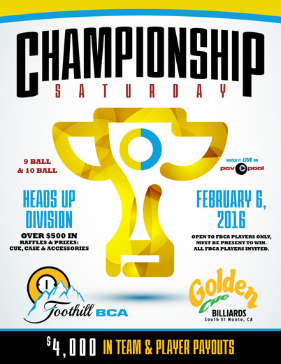 Championship Saturday Feb 6th, 2016!