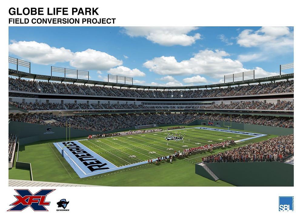 XFL Globe Life Park Field Conversion Project