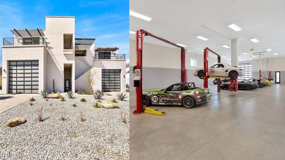 Car Lovers' Paradise in California! Live in Luxury Right on the Racetrack