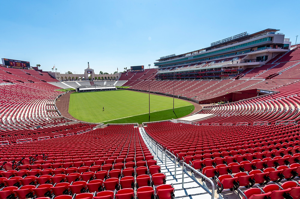 The renovated Los Angeles Memorial Coliseum. (USC)