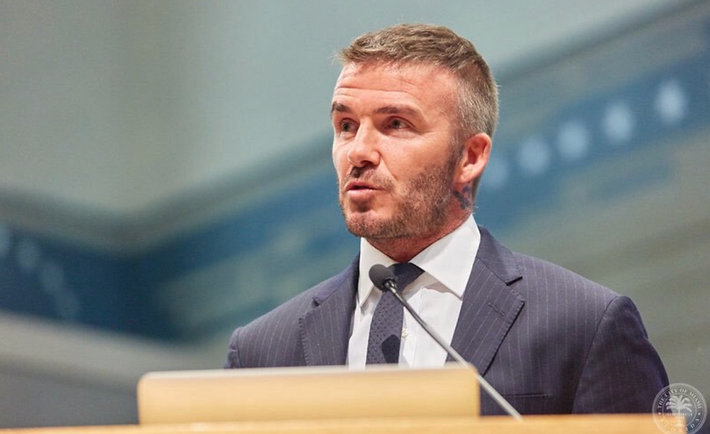 David Beckham's Miami group was awarded a professional soccer franchise in 2018.