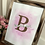Thumbnail: Watercolour Name and Initial Artwork for Home Decor
